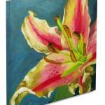 Large floral giclee on canvas with ..